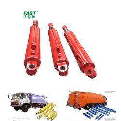 Vérin hydraulique double effet pour les camions à ordures