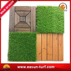 Intertravamento de tapete de relva artificial de paisagismo para fácil Jardim bricolage