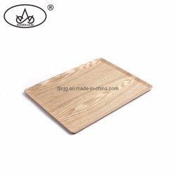 Rechteckiges Tee-Furnierholz-Tellersegment-Weide-Furnier-Blattumhüllung-Tellersegment rutschfest