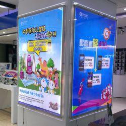 En el interior del centro comercial de Marketing de cristal acrílico LED Media caja de luz