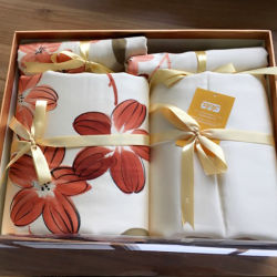 De seda de luxo/Algodão Impressão Mesclado Hotel/conjunto de roupa de casa