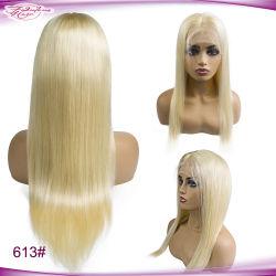 Эластичные ленты бразильского русые 613 полностью кружевной Wig волос человека