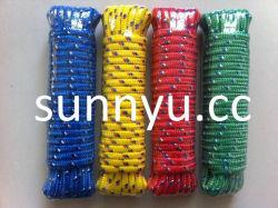 ナイロンロープのダイヤモンド編みこみのロープPPのナイロンはポリエステルロープのプラスチックロープをロープをかける