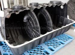 Inicio planta de tratamiento de aguas residuales de fosas sépticas de biogás de plástico