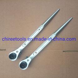 315 mm Podger Bar Ratchet sleutel 18 mm x 24 mm recht type Steiger