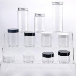 30ملل 50 مل 100مل 200مل 250 مل تجميلي التغليف أسود شفاف دورق بلاستيكي