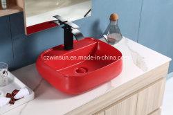 Beaucoup de matériel de nouvelle conception de couleur rouge petit carré dissipateur en céramique