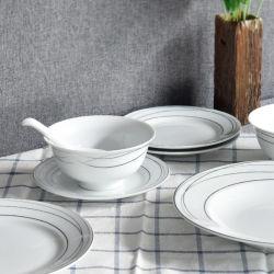Keramisches chinesisches Gaststätte-Essgeschirr-tägliches Gebrauch-Geldstrafen-Porzellan-Tafelgeschirr des Abendessen-Set-26PCS