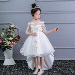 여아 아이들의 뉴 2021 트레일링 드레스 스커트 디자이너 의류 유아용품 디자이너 의류 어린이 파티는 드레스 베이비 여자 의류 웨딩 의류