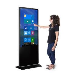 공장 가격: 43 55 65인치 실내 모니터 대화형 LCD 디지털 사이니지 터치 스크린 광고 디스플레이 키오스크