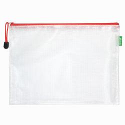 Sacchetto trasparente portatile durevole dell'archivio di documento dell'ufficiale dell'allievo di memoria della cancelleria del PVC B5