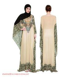 2020 Nouvelle conception de gros de l'usure de la femme de Dubaï Farasha Kaftan Caftan Maxi robe longue Abaya Canada Kimono manchon chaud femmes musulmanes des vêtements Plus Size Factory