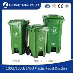 100L/120L/240L/360L Großhandel Hochleistungs-Outdoor Public Street Recycle HDPE 2 Räder Mülleimer Plastikmüll/Müll/Wheelie/Müll/Mülleimer mit Fußpedal