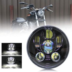 5,75-дюймовый светодиодный фары круглые водонепроницаемые фары для Har-Ley Davidson Dyna Street Bob Super Wide Glide низкий Райдер ночь стержень поезд мужчина Softail Custom Sportster