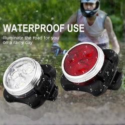 Аккумулятор USB светодиодный индикатор на велосипеде велосипед лампы установлен передний фонарь габаритного фонаря 300 lm 2 цвета на велосипеде лампы освещения велосипедов для использования вне помещений