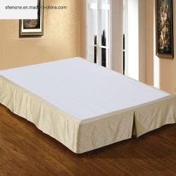 Hôtel de luxe d'arrivée Shenone décoratifs utiliser équipé jupe de lit ou lit Queen Size jupe matelassée