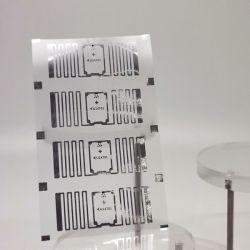 41x16mm EPC Gen2 U8 Inlay RFID UHF Sticky Etiquetas inteligentes para rastrear y vía