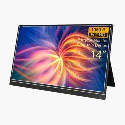2020 beweglicher Zoll voller HD 1080P IPS USB Typ-c Computer-Bildschirmanzeige, Kanal des Monitor-14 USB-Type-C/HD MI für Laptop PC PS4/xBox