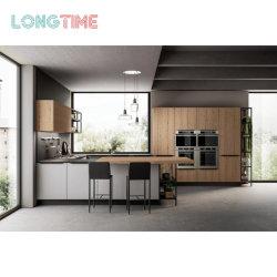 Специализированные бесплатные современный классический дизайн твердых деревянная мебель меламина готово кухонные шкафы