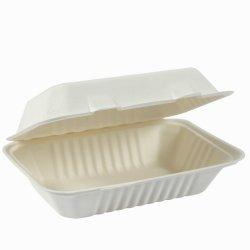 食品包装用の調理器具 9X6 インチ生分解性 Dinnersets Sugarcane ランチボックス