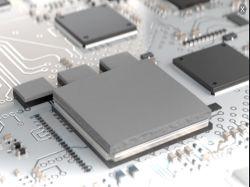 Caucho de silicona conductora de refrigeración de aislamiento de componentes electrónicos almohadilla térmica