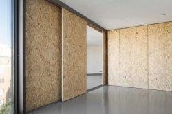 Puerta de madera OSB para la construcción de casas y muebles