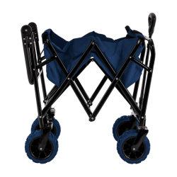 Parco Giardino Utilità carro per bambini portatile in acciaio pieghevole Beach Trolley
