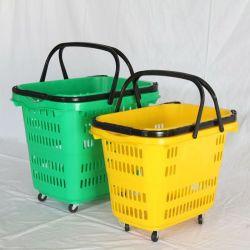 제조업체 도매 친환경 PP 플라스틱 쇼핑 바구니 슈퍼마켓 및 매장