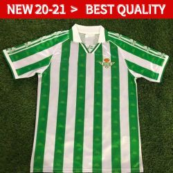 El Real Betis Retro Camisetas de fútbol 95 97 El Real Betis desgastado partido Menéndez 3 Finidi 25 Rios 21 Finidi 11 Camisetas de fútbol Maillot de foot