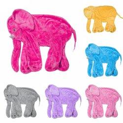 L'éléphant jouet en peluche apaisant la peau sans remplissage PP Animal de coton doux sommeil de bébé éléphant oreiller