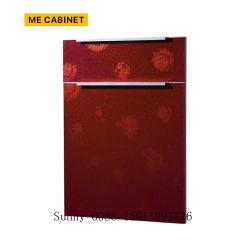 Armário me mobiliário personalizado Porta Corrediça de madeira Armários de cozinha de PVC de porta a porta de cozinha/MDF sólidos de madeira roupeiro porta a porta do armário
