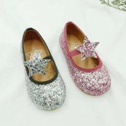 2020 горячей детей Ballerina обувь на плоской стиле Star верхний с Боу и Блестящие цветные лаки