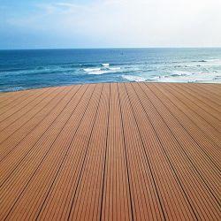 Anti Slip waterbestendige buitenlaag WPC Hout kunststof composietvloeren Waterdichte Anti UV Outdoor WPC Composite Decking voor Tuinhuis