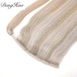 شعر شعر شعر طبيعي مستقيم مينك برايزليان هورس تايل شعر الإنسان بذيل الحصان