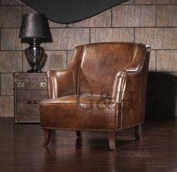 装飾された革ソファーセットかレトロ型様式の本革の家具