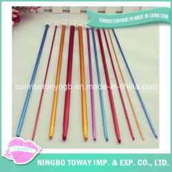 Popular Juego de agujas de tejer Crochet ganchos de aluminio multicolor