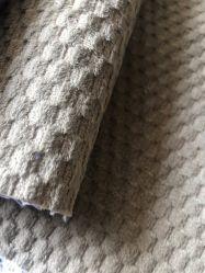 100%полиэстер истощения списков бархатным диваном ткани (ананас grid)