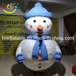 Matériau doux peluche Walking Inflatable Bonhomme de neige Noël Bonhomme de neige Costume