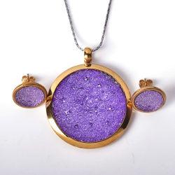 El encanto de acero inoxidable de la moda de joyería Colgante Collar Conjunto