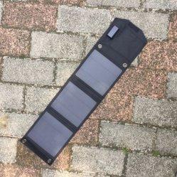 بطارية سيارة محمولة قابلة للطي USB محمولة مزودة بلوحة شمسية بقدرة 15 واط شاحن يعمل بالطاقة الشمسية المطوية