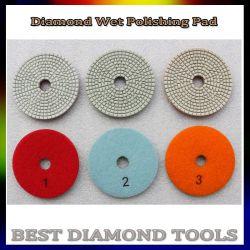 Húmedo o seco usado pulido de diamantes Flexible almohadillas para amoladora angular de la piedra de mármol de granito de ingeniería de molienda de piedra de cuarzo