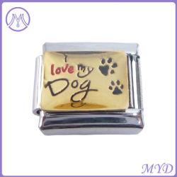 Me encanta mi pata de perro de mascota de 9mm de tamaño clásico encanto italiano para pulseras