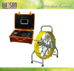 Vidange du tuyau d'inspection Witson autonivelant Système de caméra avec 60m de câble push et contrôleur DVR