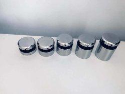 Raccord double broche en acier inoxydable solide ronde Standoff Broche adaptateur en verre Verre Douilles de serrage