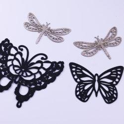 Персональные лазерные вырезать Applique бабочек Блестящие цветные лаки