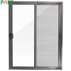 Australisches doppeltes glasig-glänzendes schiebendes Standardaluminiumfenster und Tür
