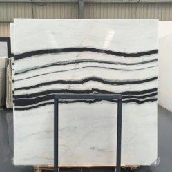 Italiano Bianco Carrara White & Black Panda livro elegante mármore branco Telhas e Lajes