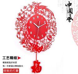 Китайские Искусственные Подарки Акриловые Декоративные Настенные Часы