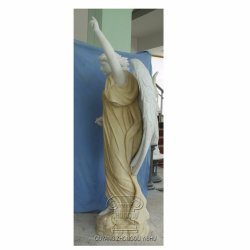 흰 대리석 조각 천사 화강암 석상