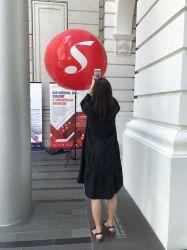 Aufblasbare Beleuchtung-Stativ-Kugel Standplatz-Ballon-im Freienbekanntmachensled
